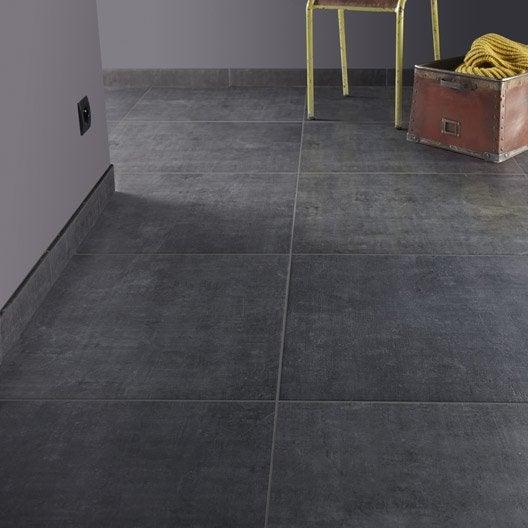 Carrelage sol et mur noir fusain effet b ton area x for Carrelage 5 mm