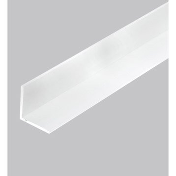 Cornière égale pvc mat, L.2.5 m x l.3 cm x H.3 cm