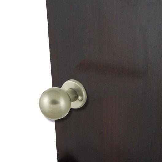Bouton de porte poign e de porte int rieure leroy merlin for Bouton de porte original