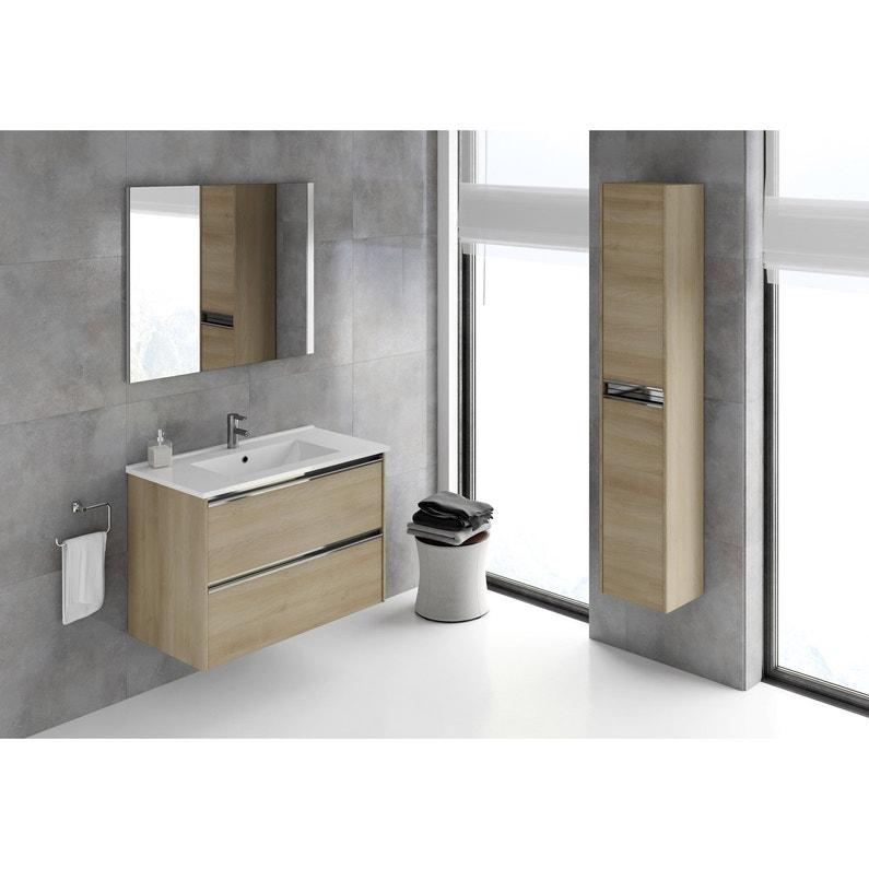 Meuble sous-vasque et miroir l.80 | Leroy Merlin