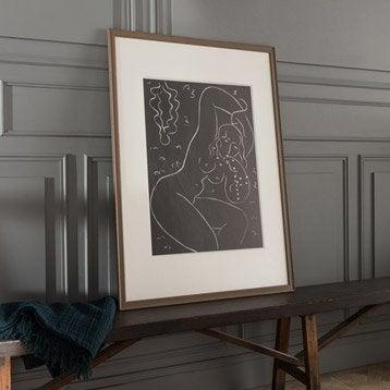 Cadre Vienne, 70 x 100 cm, brun taupe n°3