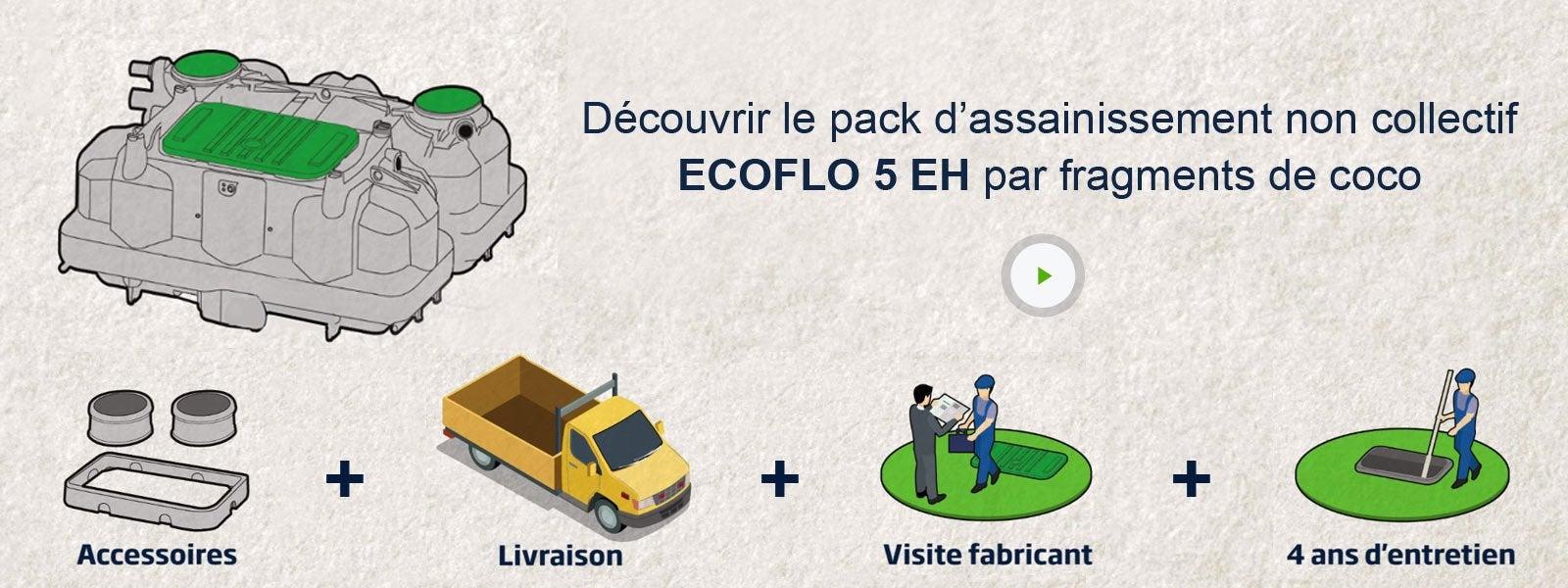 pack assainissement non collectif ecoflo 5 eh sortie haute pompe de relevage leroy merlin. Black Bedroom Furniture Sets. Home Design Ideas