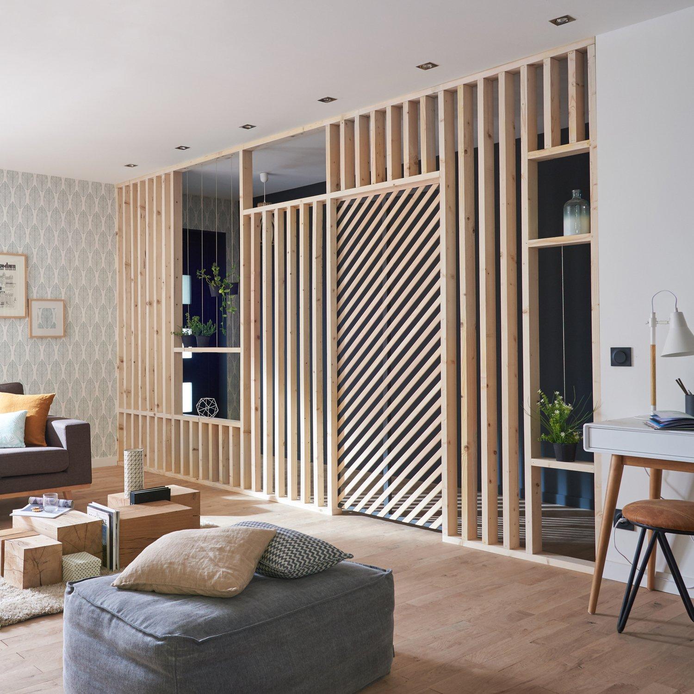 des tasseaux pour s parer le couloir du salon leroy merlin. Black Bedroom Furniture Sets. Home Design Ideas