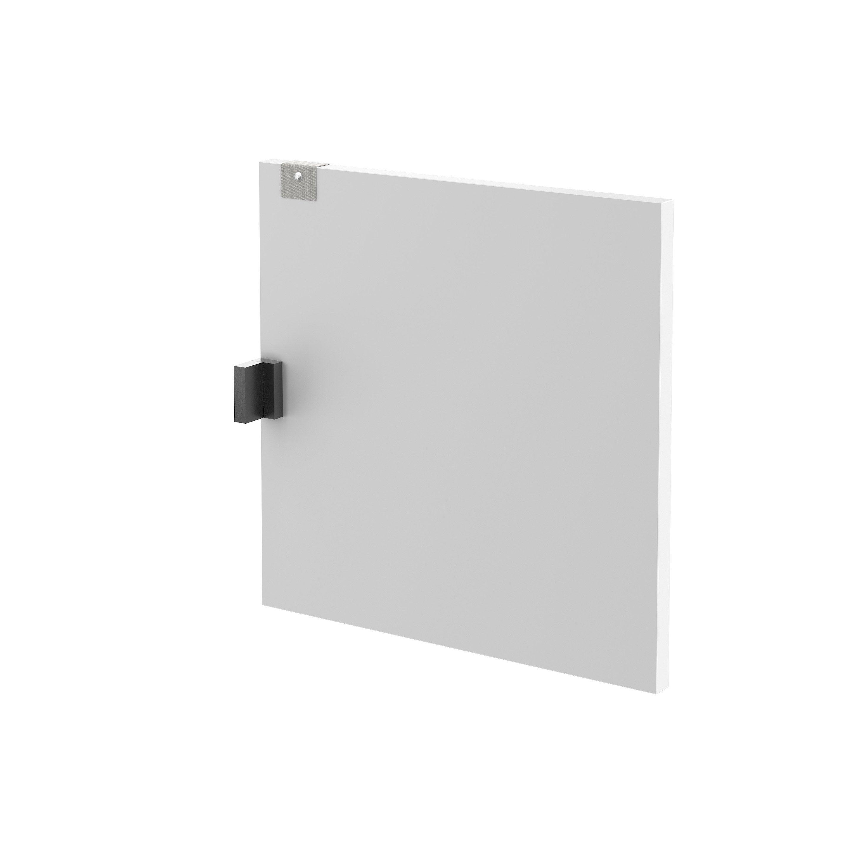 Porte battante Kub blanc, SPACEO H.32.2 x l.32.2 cm