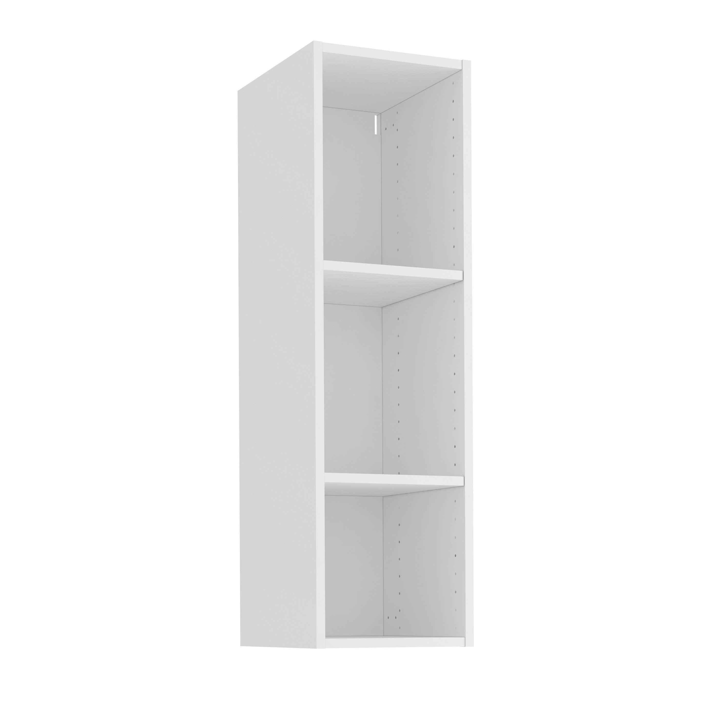 Caisson de cuisine haut DELINIA ID, blanc H.10.10 x l.10 x P.10 cm