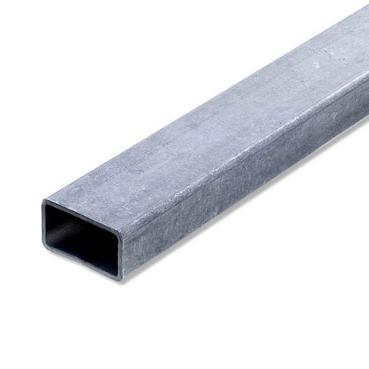 Tube rectangulaire acier brut l 2 m x l 4 cm x h 2 7 cm - Tube acier rectangulaire ...
