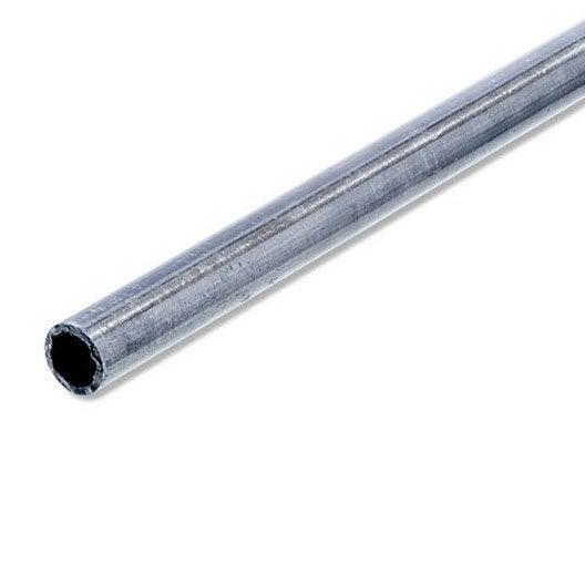 tube rond acier brut l 2 m x mm leroy merlin. Black Bedroom Furniture Sets. Home Design Ideas