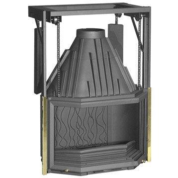 Foyer à bois façade prismatique INVICTA 6885-44 15 kW