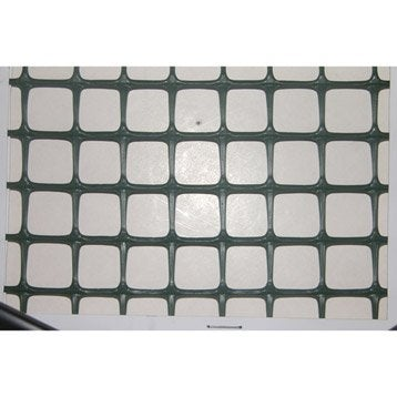 Grillage extrusion vert H.1 x L.3 m, maille de H.20 x l.20 mm