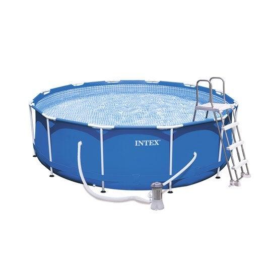 piscine hors sol autoportante tubulaire m tal frame intex ronde diam m. Black Bedroom Furniture Sets. Home Design Ideas