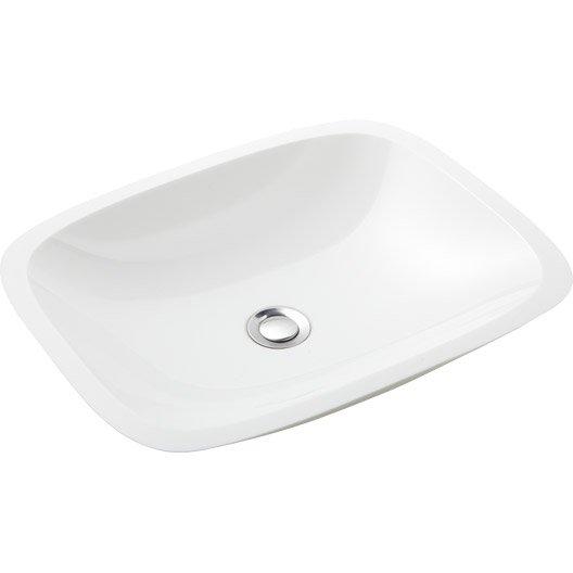 Vasque poser verre x cm blanc orion leroy merlin - Leroy merlin vasque een poser ...