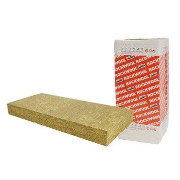 5 panneaux en laine de roche Rockfaçade ROCKWOOL 1.35x0.6m, Ep.120mm
