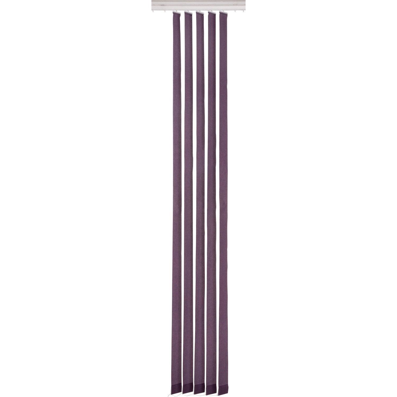 5 lamelles pour store californien uni inspire violet tulipe n 2 cm leroy merlin. Black Bedroom Furniture Sets. Home Design Ideas