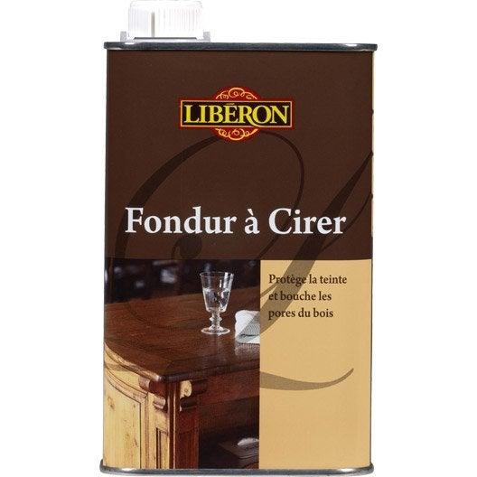 Fondur liberon 0 5 l incolore leroy merlin for Produit liberon bois