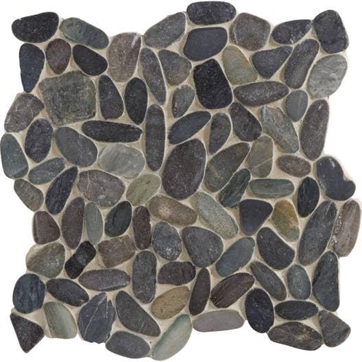 galets sol et mur riviera gris leroy merlin. Black Bedroom Furniture Sets. Home Design Ideas