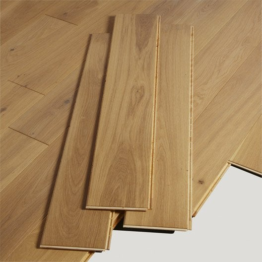 parquet contrecoll ch ne rustique naturel vitrifi xxl barlinek leroy merlin. Black Bedroom Furniture Sets. Home Design Ideas