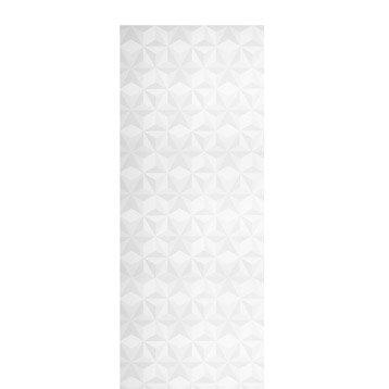 Panneau japonais Origami, blanc, 250 x 50 cm