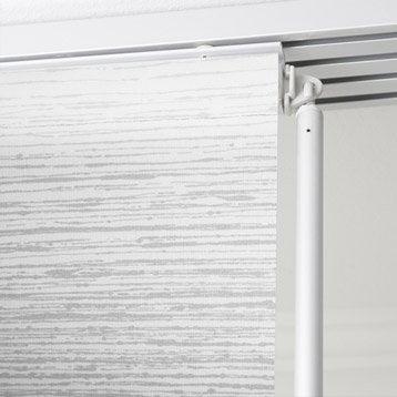 Panneau japonais Wood, gris, 250 x 50 cm