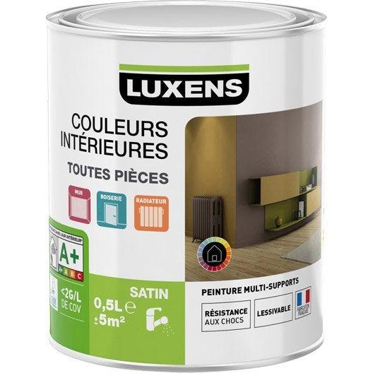 Peinture blanc blanc 0 LUXENS Couleurs intérieures satin 0.5 l