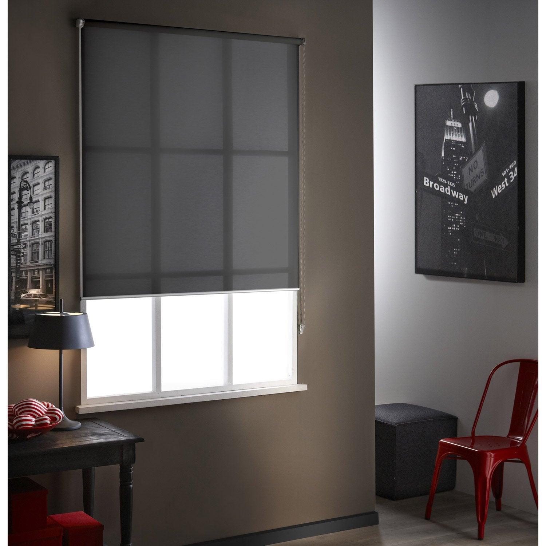 stores enrouleur elegant store enrouleur jour nuit polyester coffre aluminium gris for store ou. Black Bedroom Furniture Sets. Home Design Ideas