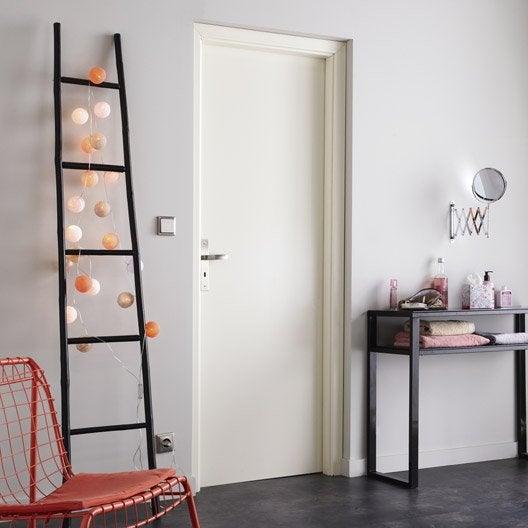 porte fin de chantier laqu blanc home poussant droit 204 x 73 cm leroy merlin. Black Bedroom Furniture Sets. Home Design Ideas