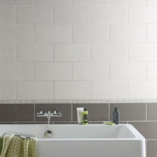 Carrelage mural et fa ence pour salle de bains et cr dence - Leroy merlin carrelage mural ...