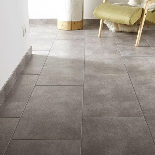 Carrelage sol et mur gris clair effet b ton soho x - Carrelage gris clair leroy merlin ...