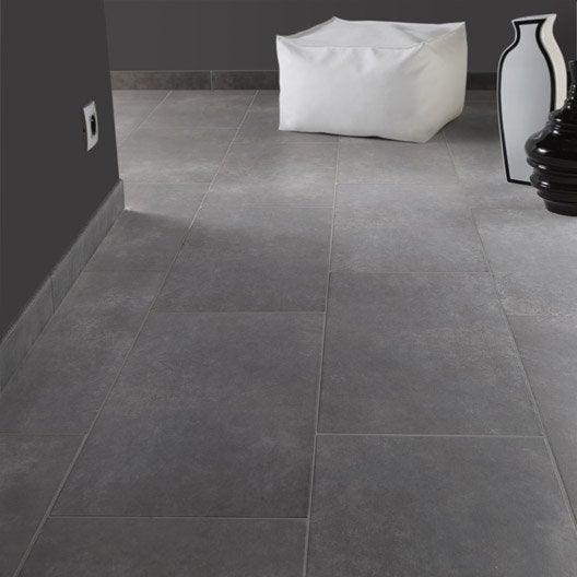 Carrelage sol et mur anthracite effet b ton soho x - Carrelage gris antracite ...
