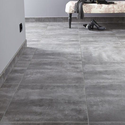 Carrelage sol et mur gris zingu 1 effet b ton camden for Carrelage effet beton gris