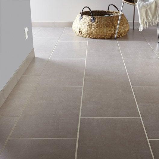 Carrelage sol et mur gris perle effet b ton area x for Carrelage sdb gris
