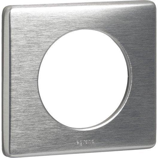 plaque simple c liane legrand aluminium leroy merlin. Black Bedroom Furniture Sets. Home Design Ideas