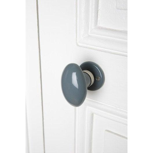bouton de porte porcelaine porcelaine de limoges nickel mat leroy merlin. Black Bedroom Furniture Sets. Home Design Ideas