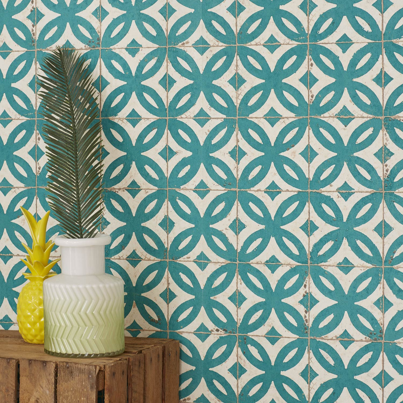 Papier Peint Intisse Mosaique Vert Leroy Merlin