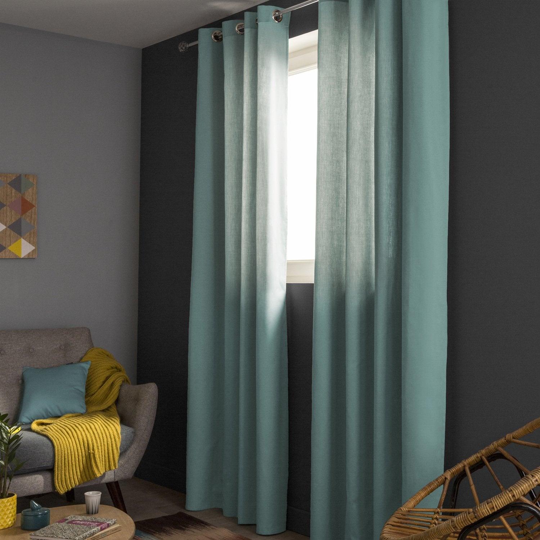 r chauffez votre int rieur avec un rideau tamisant perle leroy merlin. Black Bedroom Furniture Sets. Home Design Ideas