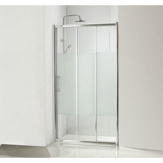 Porte de douche coulissante 110 cm s rigraphi quad leroy merlin - Vitre douche leroy merlin ...