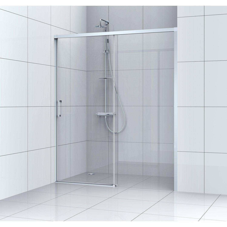Porte de douche coulissante 100 cm, transparent, Remix | Leroy Merlin