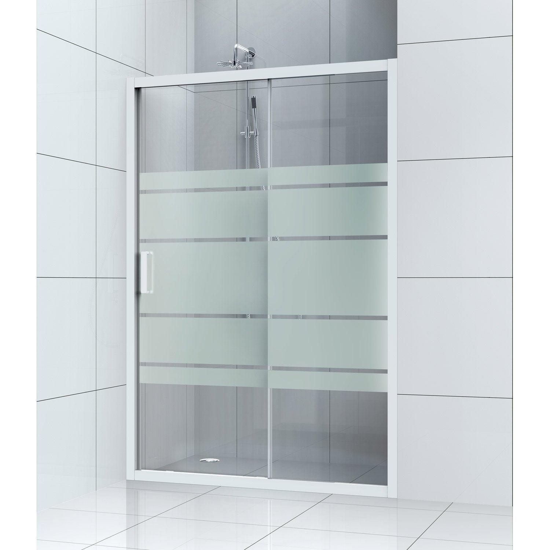 Porte de douche coulissante 120 cm serigraphie charm for Porte de douche coulissante avec devis refection salle de bain