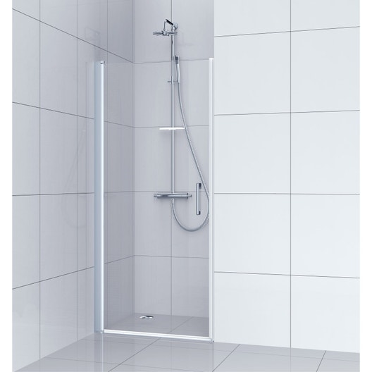 Porte de douche pivotante 80 cm transparent remix for Porte de douche 100