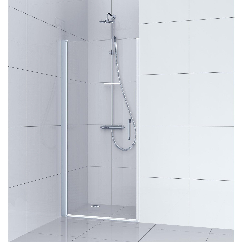 Porte Salle De Bain Vitree ~ porte de douche pivotante 80 cm transparent remix leroy merlin