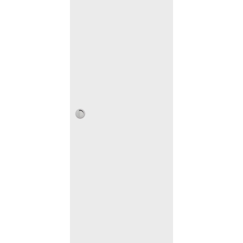 Porte Coulissante Medium Mdf Revetue Blanc Loulou Artens H 204 X