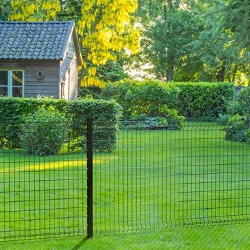 Grillage panneau Soudé Bekafor classic xl noir H.1.23 x L.2.5m, maille 100x50mm