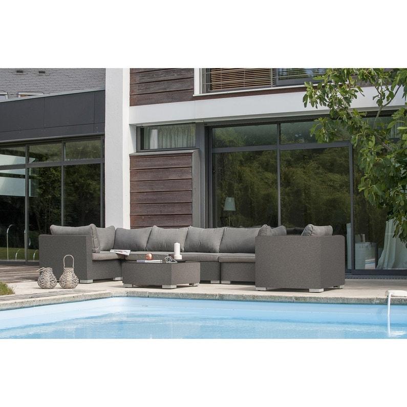salon bas de jardin athena textil ne 6 personnes leroy. Black Bedroom Furniture Sets. Home Design Ideas