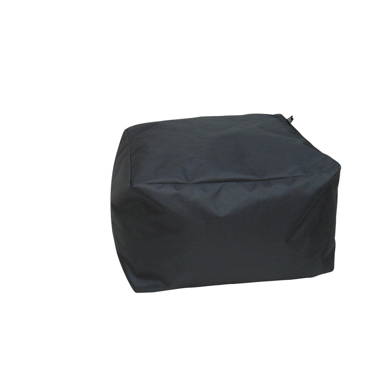 pouf de sol gris anthracite blok x cm leroy. Black Bedroom Furniture Sets. Home Design Ideas