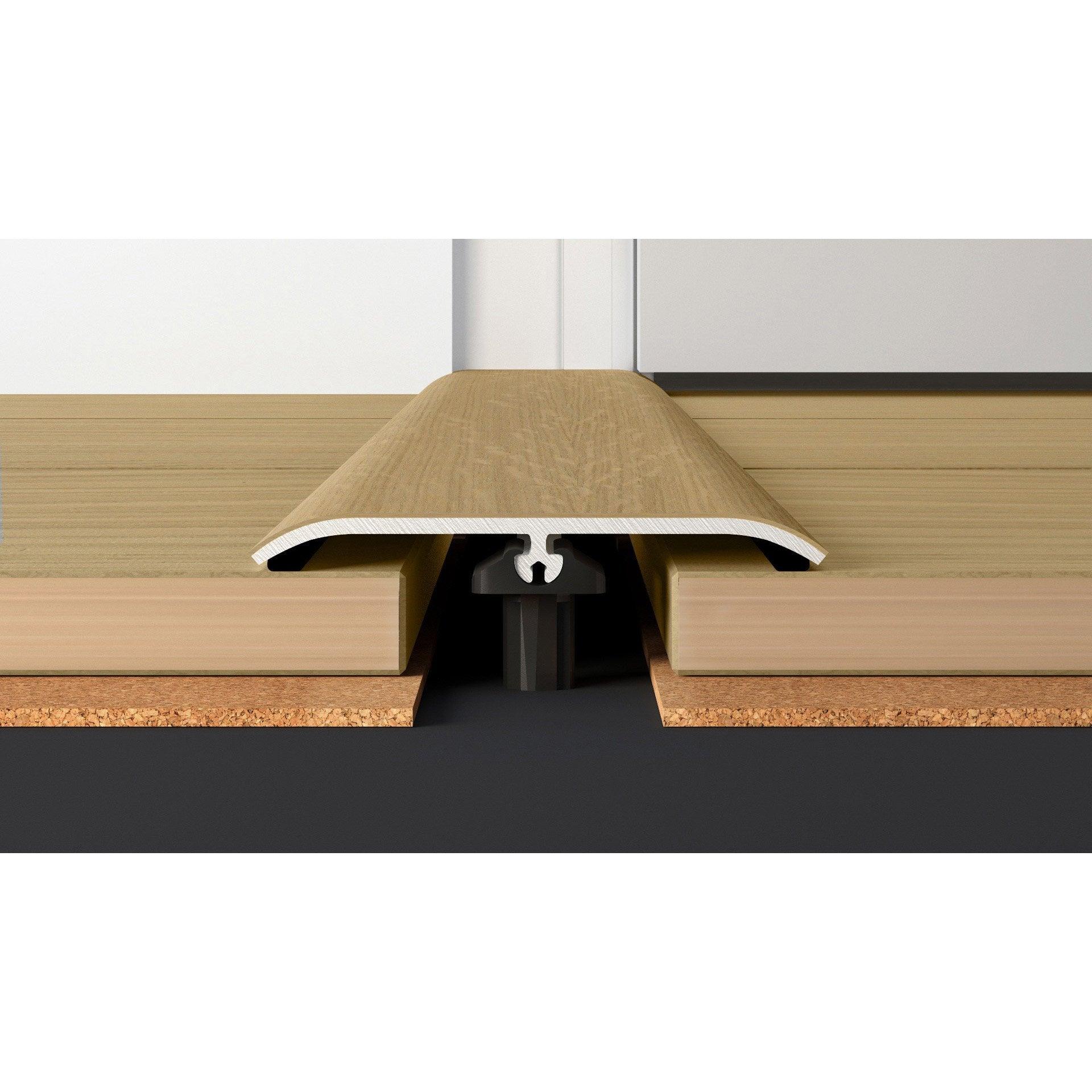 barre de seuil plaqu ch ne blond pour parquet cm x. Black Bedroom Furniture Sets. Home Design Ideas