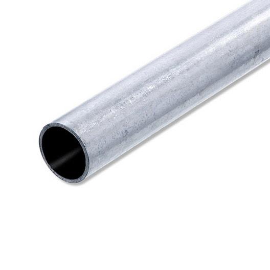 Tube rond acier brut L 1 m x Diam 25 mm