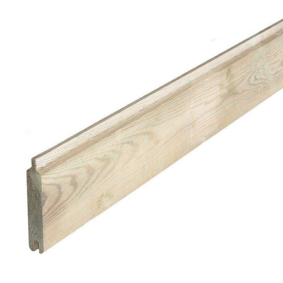 lame bois à emboîter diego naturel, l.200 x h.12 cm x ep.22 mm