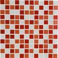 Mosaïque mur Shaker mix rouge