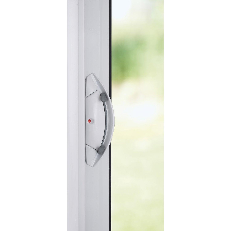 baie vitr e aluminium blanc brico premium x cm. Black Bedroom Furniture Sets. Home Design Ideas
