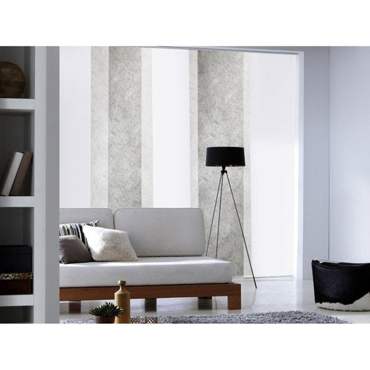 panneau japonais frost blanc x cm leroy merlin. Black Bedroom Furniture Sets. Home Design Ideas