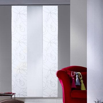 Panneau japonais Zig zag, blanc, 250 x 50 cm